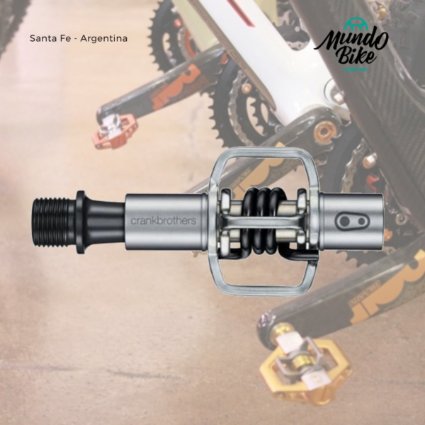 pedales con traba, pedales de mountain bike, pedales crank brothers,